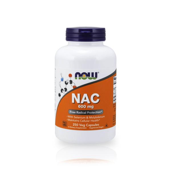 Viên Uống Giải Độc Gan NOW NAC 600mg - 250 Viên của Mỹ giá rẻ
