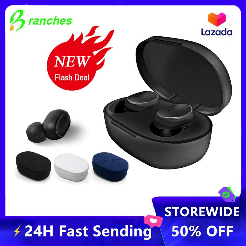 Branches [LATEST] Redmi Airdots TWS A6S Bluetooth Headset Wireless Earbuds 5.0 TWS Headphones for Xiaomi iPhone Huawei Samsung