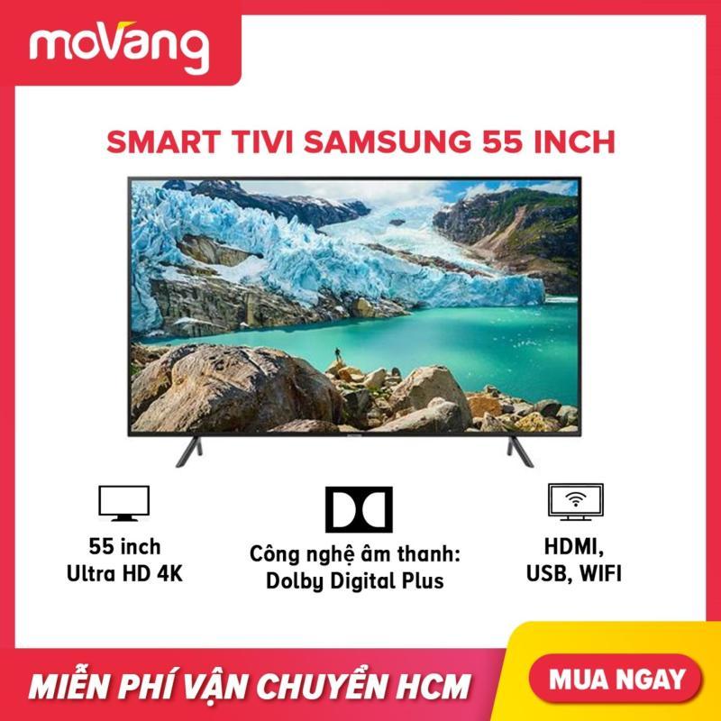 Bảng giá Smart TV Samsung 4K UHD 55 inch - Model UA55RU7100KXXV (2019) - Công nghệ hình ảnh HDR, UHD Dimming, Purcolour + Điều khiển Tivi bằng điện thoại