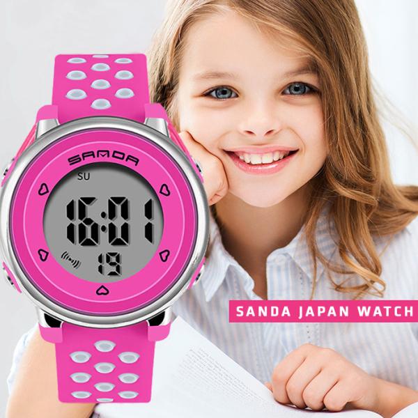 Giá bán Đồng hồ Trẻ Em SANDA Nhật Bản, Chống Nước Tốt, An Toàn Tuyệt Đối Cho Bé, đồng hồ thể thao bé gái, trai, chống sốc, Bảo Hành Toàn Quốc 12 Tháng