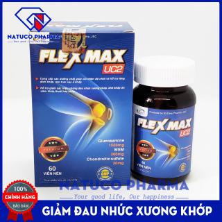 Viên uống Giảm đau khớp, viêm khớp - Glucosamin 1500mg FLEXMAX UC2 - Giảm thoái hóa cơ xương khớp, đau lưng, đau nhức khớp gối - Hộp 60 viên chuẩn GMP Bộ y tế thumbnail