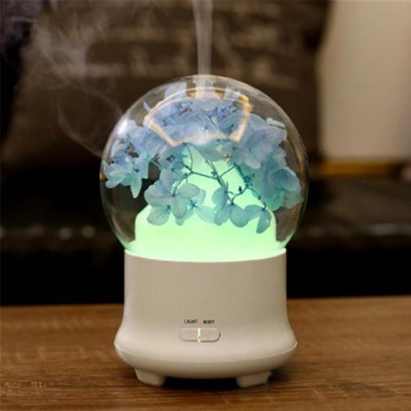 Máy xông tinh dầu , máy phun sương , máy khuyếch tán tinh dầu thế hệ mới cẩm tú cầu hồng , xanh thay đèn ngủ , thay máy tạo ẩm cho phòng điều hòa