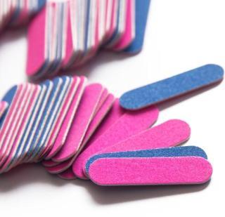 1 CÁI Dũa móng tay Làm móng Dải móng tay Đệm móng tay Mini Dải nhám Dải cát thô Dụng cụ làm móng hai mặt thumbnail