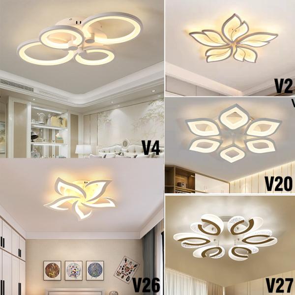 Đèn Ốp Trần Trang Trí Phòng Khách Hiện Đại Hình Hoa 6 Cánh- Kailas. Thiết kế sang trọng, hiện đại, thích hợp với nhiều không gian và phong cách nội thất.