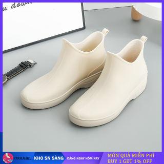Giày Đi Mưa Thời Trang Nữ Bốt Đi Mưa Tăng Chiều Cao Hoang Dã Thường Ngày