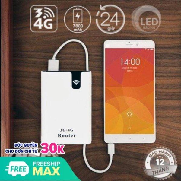 Bảng giá Bộ phát Wifi từ sim 3G 4G LTE không dây Siêu khỏe công nghệ mới, thiết bị phát wifi từ sim 4G thiết kế nhỏ gọn Thông Minh, Kiêm Sạc dự phòng 7800mAH- Thiết Bị Phát WiFi Di Động Tốc Độ Cao - Bảo Hành 12 Tháng. Phong Vũ