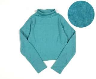 Áo croptop dài tay cổ lọ cao cấp cho bé gái 8-28kg- Áo cổ 3 phân chất len gân