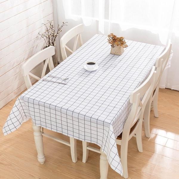 Khăn trải bàn chất liệu vải pvc dẻo dai, in hình caro, chống nước, chống thấm, dễ dàng lau dọn 88038 Shop Lucky Star