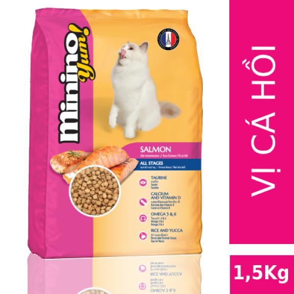 [Mới] Thức ăn cho mèo Minino Yum Salmon 1.5kg