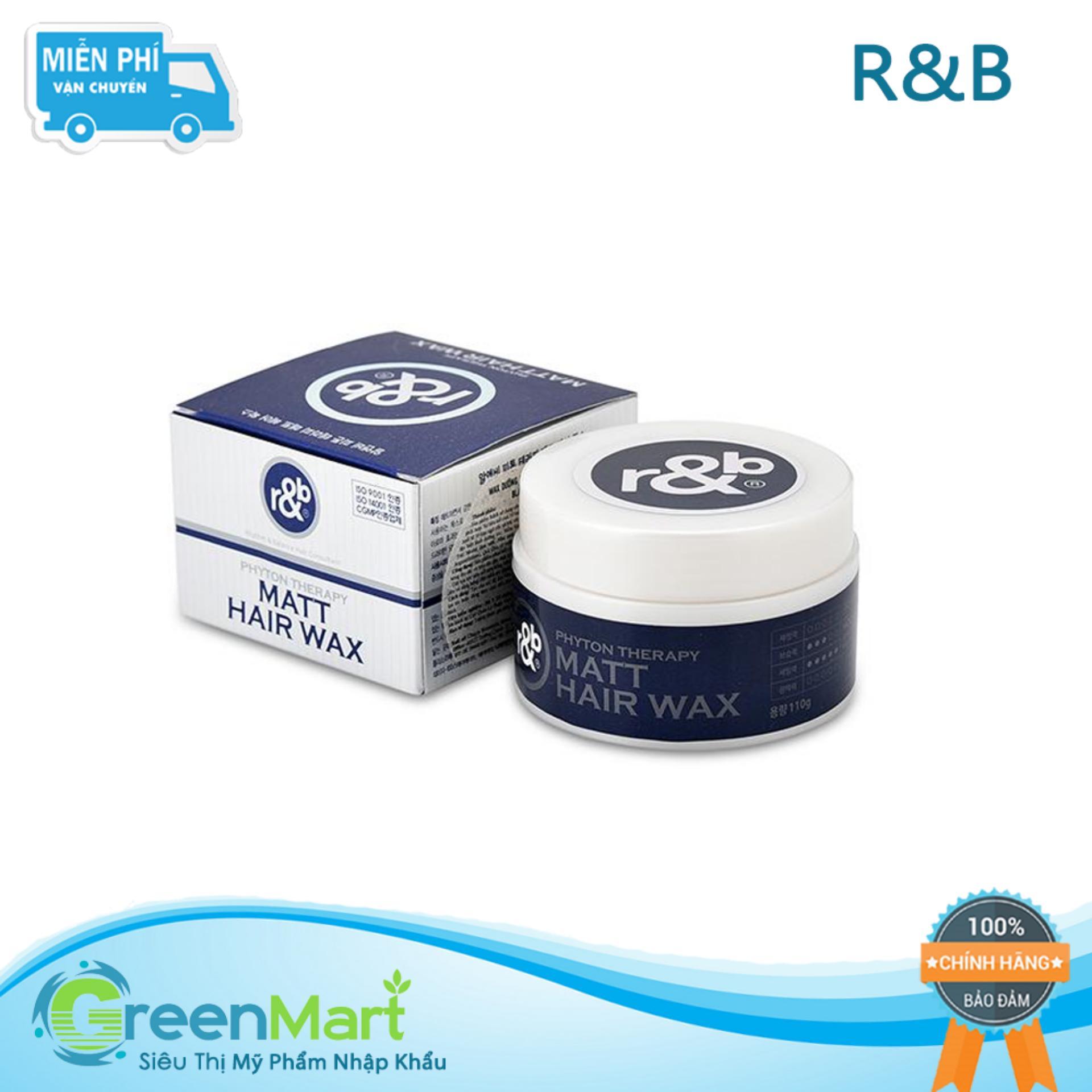 Keo vuốt tóc thảo dược thiên nhiên tạo kiểu tự nhiên không rối tóc mềm dày giữ kiểu lâu R&B Matt Hair Wax, Hàn Quốc 110g tốt nhất