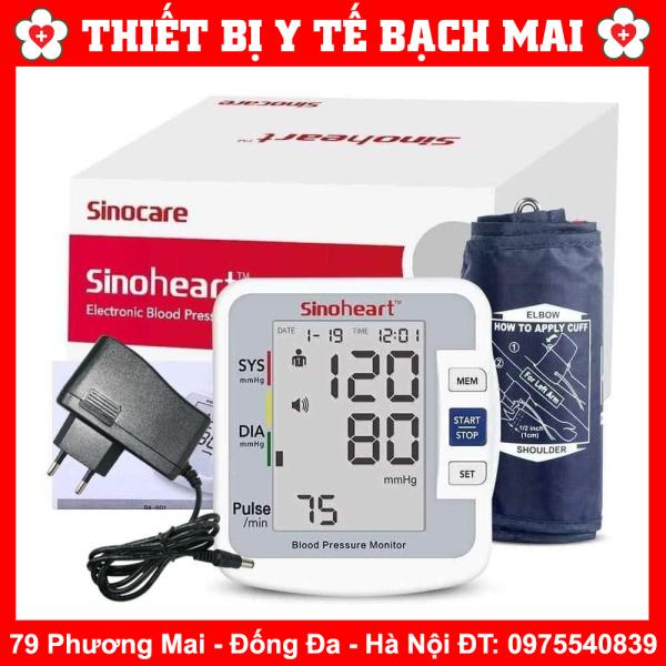 Nơi bán Máy Đo Huyết Áp Điện Tử Bắp Tay Sinoheart BA-801 SINOCARE + Nguồn Điện - Có Giọng Nói Tiếng Việt