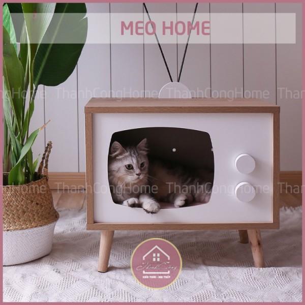 (Siêu Hot) Nội Thất Thú Cưng Cực Độc Đáo, Meo Home, Pet Home, Nhà Của Mèo Mẫu Tv02