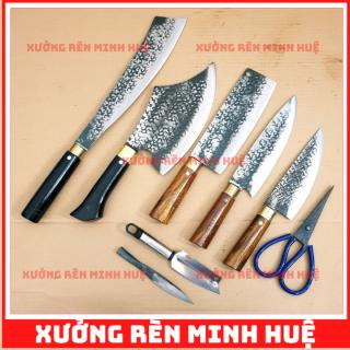 Bộ dao 4 món nhà bếp đa năng nhíp nga cao cấp , làng nghề rèn phúc sen thumbnail