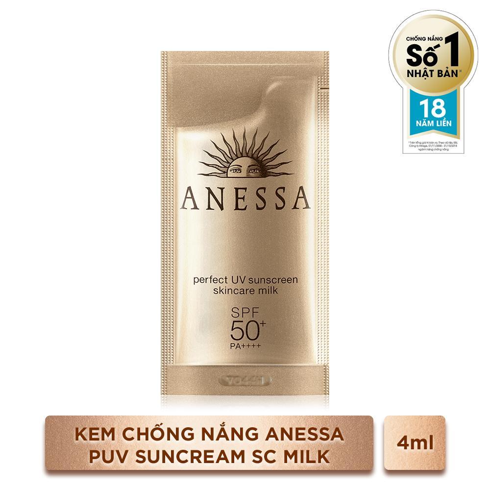 GIFT_Kem Chống Nắng Anessa Perfect UV Sunscreen Skincare Milk 4ml tốt nhất