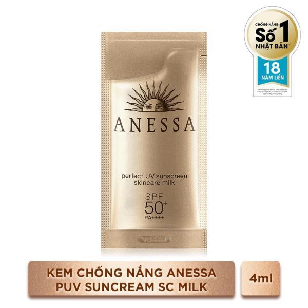 GIFT-Kem Chống Nắng Anessa Perfect UV Sunscreen Skincare Milk 4ml