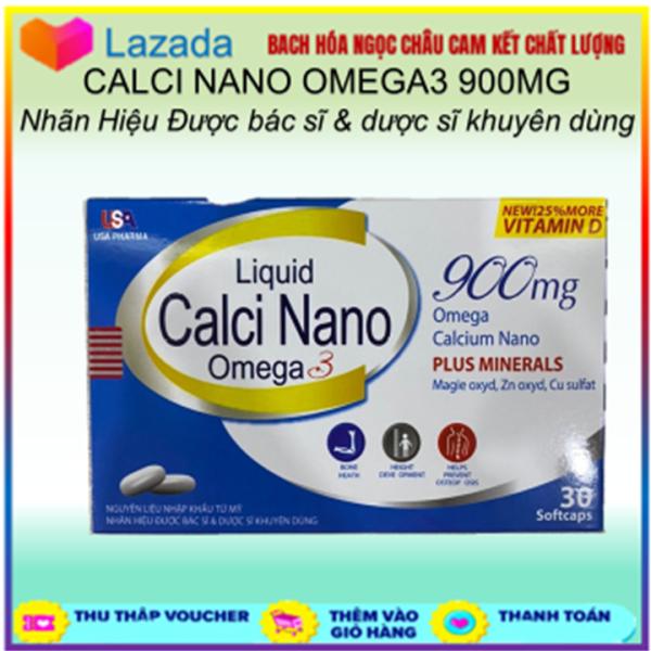 VIÊN UỐNG CANXI NANO OMEGA 3 - DÀNH CHO NGƯỜI CẦN BỔ SUNG CANXI - LIQUID CALCI NANO OMEGA 3 - HỘP 30 VIÊN giá rẻ
