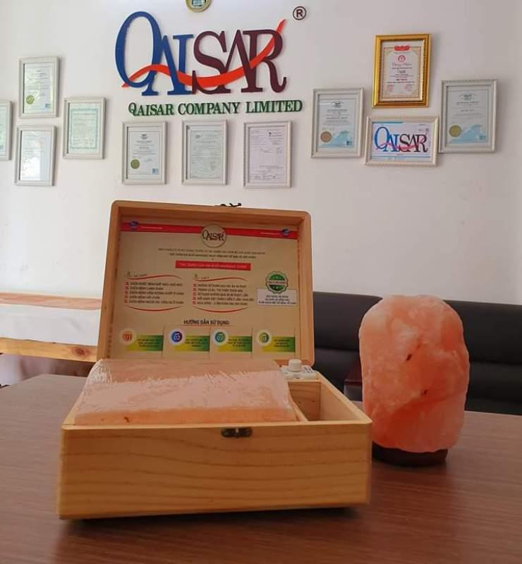 hộp đặt chân đá muối Himalaya Qaisar có giá 750k cao cấp