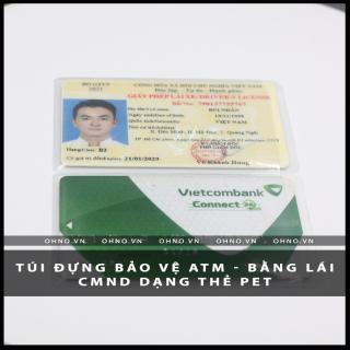 BAO đựng CAO cấp SU hào chống trầy xước thẻ căn cước CMND , ATM, Bằng lái xe , Thẻ sinh viên, nhân viên dạng thẻ PET 2