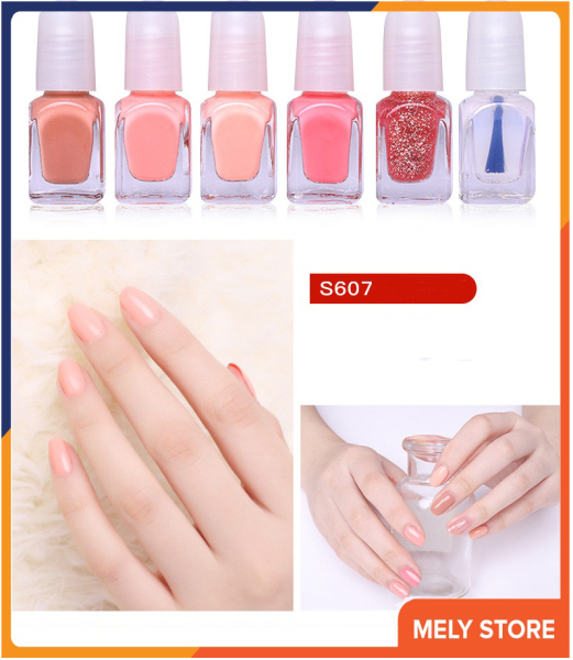 Set sơn móng tay mini dạng nước 6 màu, bộ nước sơn móng tay, sơn móng tay thường được sử dụng nhất, sơn móng tay bóng ST004