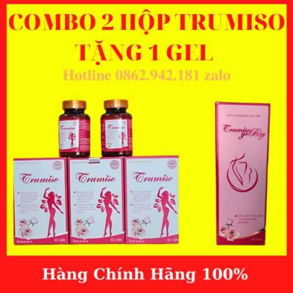 ( Độc Quyền ) COMBO 2 HỘP TRUMISO + Tặng 1 Kem Massage TRUMISO - Viên Uống TRUMISO TĂNG VÒNG 1 – VIÊN UỐNG NỘI TIẾT TỐ NỮ (HỘP 60 VIÊN)- AN001 giá rẻ