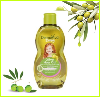 [Date T8 2021]Dầu dưỡng tóc DermoViva chiết xuất Olive cho trẻ em 200ml thumbnail