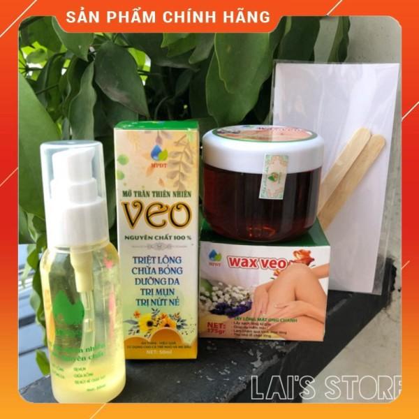 Combo Wax Lông Veo + Mỡ Trăn Tặng Giấy và que gỗ S007
