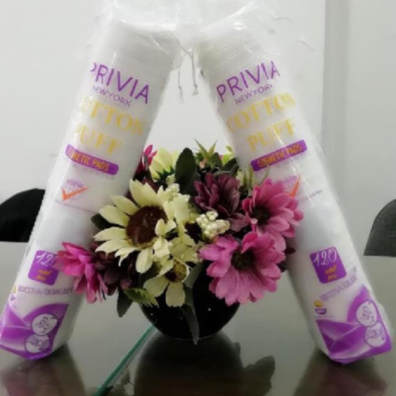 Bbông tẩy trang Privia 120 miếng - PRIVIA cao cấp