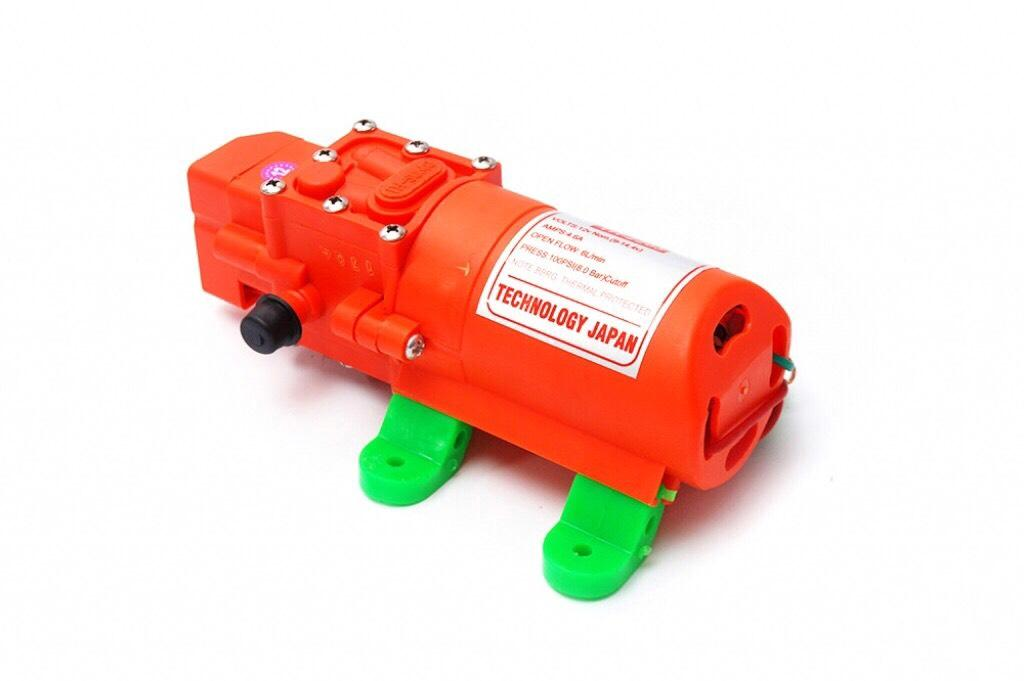 Bơm tăng áp mini 12V SUMO cam bơm tăng áp lực nước sử dụng phun sương, tưới cây... Lưu lượng nước 6l/phút tự động hút và ngắt nước khi khóa van