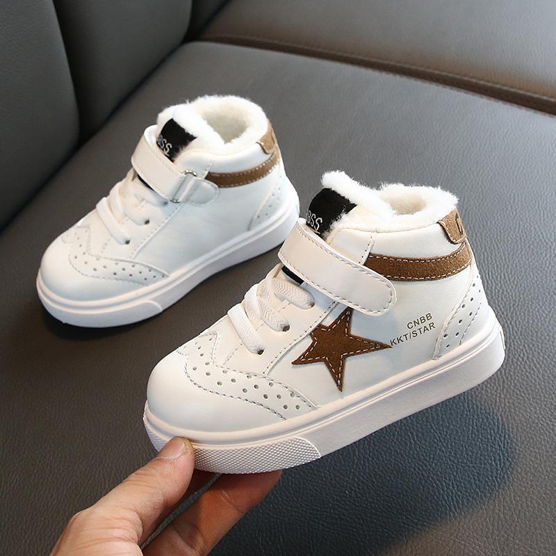Giá bán Giày bé gái cao cấp chất liệu da PU siêu ấm, thoáng khí tốt phong cách Hàn Quốc dành cho bé 1-14 tuổi