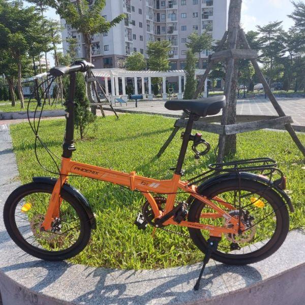 Mua xe đạp gấp Phoenix - màu cam