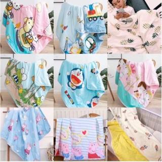 1 Chăn Mền cotton 2 mặt trần bông cho bé (100x140cm) thumbnail
