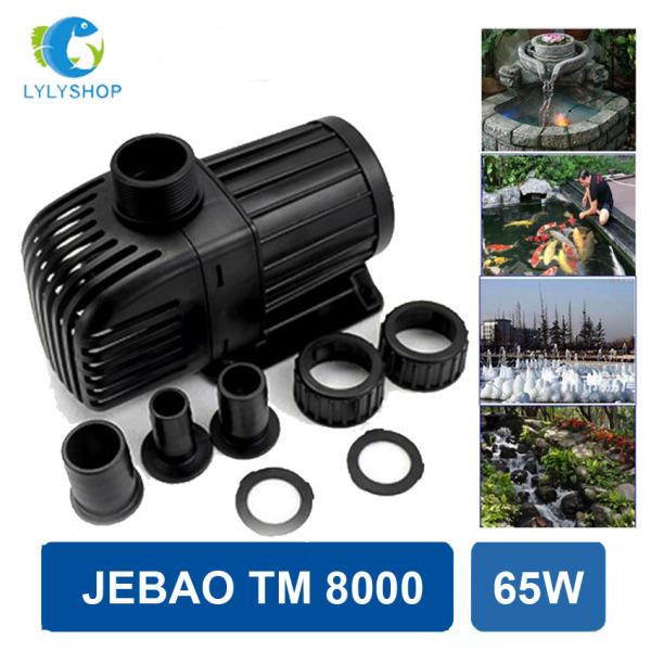 65W- 8000L/Hr - Máy bơm nước hồ cá Jebao TM 6500, phi ống 42, lõi trục gốm, ngắt tự động khi bơm hết nước, tiết kiệm điện, dễ lắp đặt. Bảo hành 6 tháng
