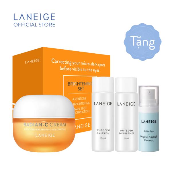[MỚI] Kem dưỡng trắng da làm mờ đốm nâu Laneige Radian - C 30ml + Tặng Bộ dưỡng trắng White Dew Trial Kit