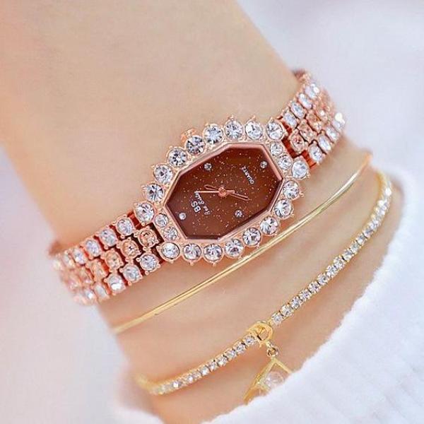 Đồng hồ nữ BS Bee Sister FA1581 đính đá thời trang