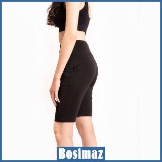 Quần Legging Nữ Bosimaz MS321 ngắn túi trước màu đen cao cấp, thun co giãn 4 chiều, vải đẹp dày, thoáng mát không xù lông. thumbnail