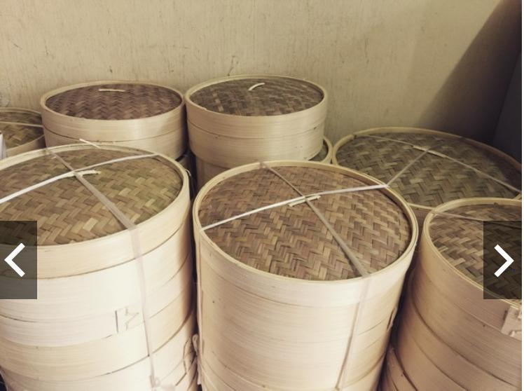 Combo lồng tre, xửng tre hấp bánh bao , há cảo gồm 3 đáy và 1 nắp, đường kính 30 cm, cao 18 cm