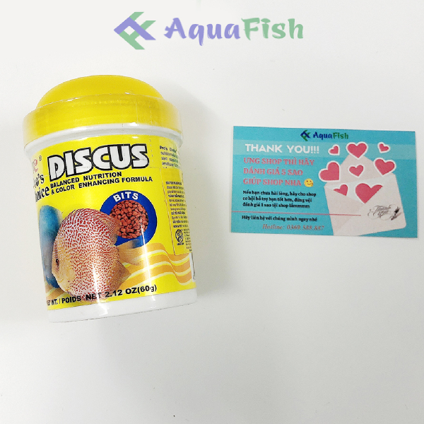 Thức Ăn Cho Cá Đĩa ProS Choice Discus Lọ 60g (Thức ăn chuyên dụng dành cho cá đĩa nhanh lớn, lên màu và không làm đục nước)