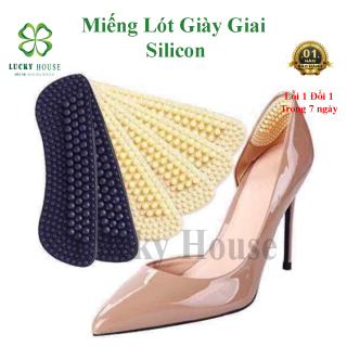 Miếng lót giày silicon 4D chống đau chân , lót giày nữ bảo vệ gót chân , đệm silicon giày cao gót thumbnail