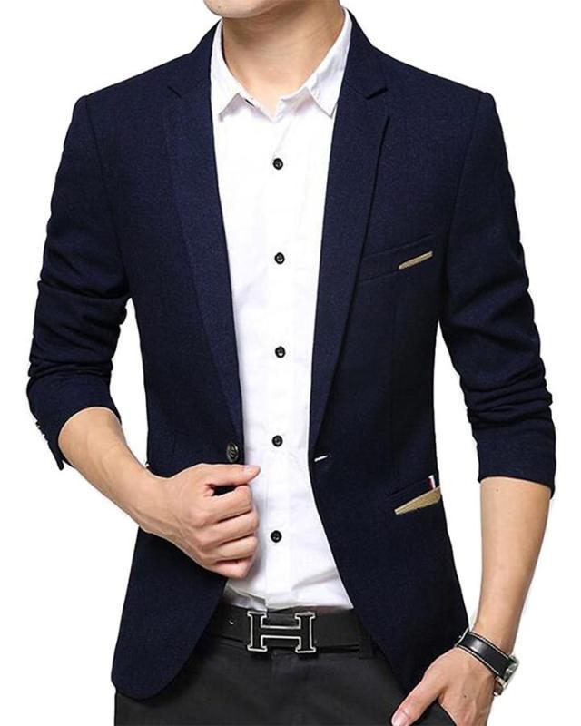 Áo Khoác Vest Nam Hàn Quốc Thời Trang Đẹp Vải Dày Mịn  Xanh Đen - TTN00141