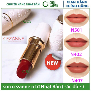 [HCM]Son Cezanne 406 (Đỏ base hồng) 501 (Đỏ Cam) 206 (Hồng Sen) 402(đỏ cherry) & 102 (Cam Đất ) 205 (Hồng đào tự nhiên) cho môi thêm xinh thumbnail