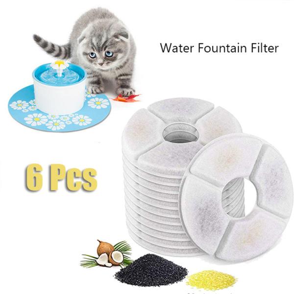 ZEEBR Tương thích Đối với đài phun nước uống tự động Mèo con Con mèo Chó Bộ lọc phân phối Bộ lọc thay thế Bộ lọc đài phun nước Bộ lọc than hoạt tính