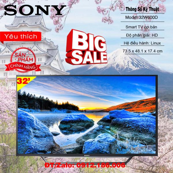 Bảng giá Smart Tivi Sony 32 inch KDL-32W600D - Hàng chính hãng