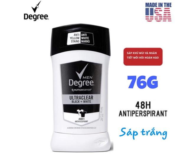 [USA] Lăn khử mùi nam Degree men Motionsense UltraClear Black & White 76g chống ố áo - Sáp Khử Mùi Nam nhập khẩu