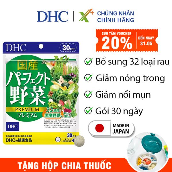 Viên uống rau củ DHC Nhật Bản Premium thực phẩm chức năng bổ sung chất xơ, hỗ trợ hệ tiêu hóa, giảm táo bón, làm đẹp da 30 ngày XP-DHC-VEG30 cao cấp