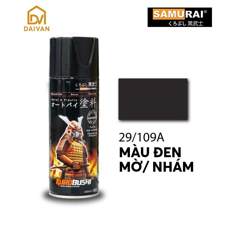 Chai Sơn Màu Đen Nhám (109A) Sơn Xịt Samurai