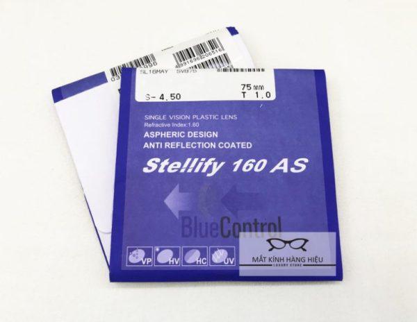 Giá bán Tròng kính Lọc Ánh sáng xanh Hoya Stellify Blue Control có độ mỏng , chính hãng Hoya của Nhật ( chiết xuất 1.61 )