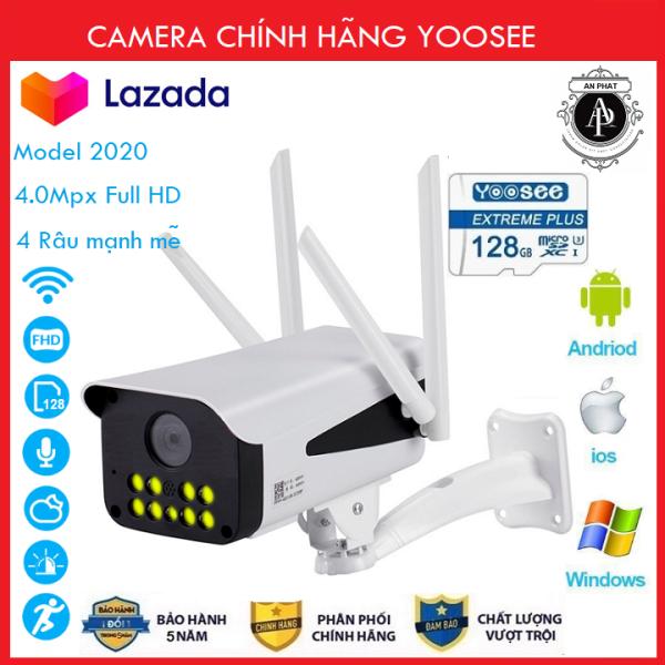 ( Combo Camera + Thẻ 128GB Yoosee Bảo Hành 50 Tháng ) Camera Wifi Camera Yoosee 4 râu 10 led ngoài trời 4.0Mpx Full HD  thế hệ mới - An Phat Company