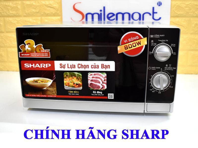 [Flash Sale] Lò vi sóng Sharp R-205VN(S) 20L, Nấu, Hâm, Rã đông