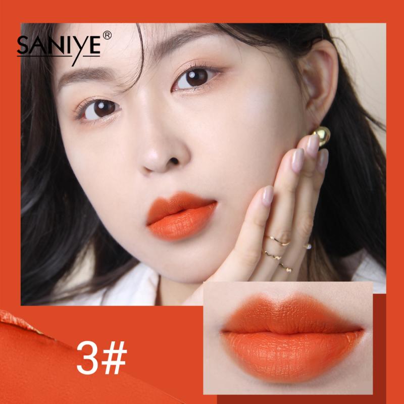SANIYE Son môi mờ Vàng Nhung quyến rũ Trang điểm môi 12 màu có sẵn  K1123