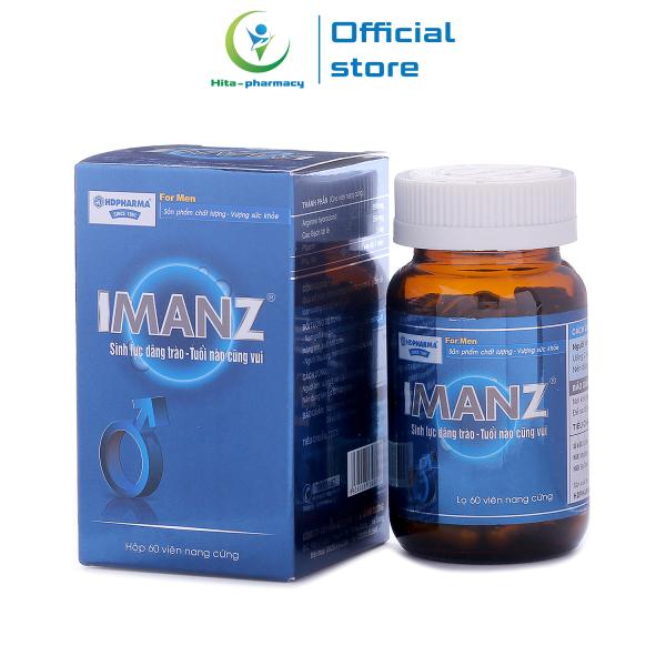 Viên uống IMANZ tăng cường sinh lý nam, bổ thận, tráng dương - Chai 60 viên